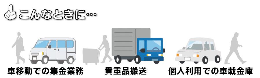 集金業務・貴重品運搬・車載金庫